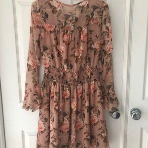Xhilaration Dresses - Fall floral dress in blush pink!